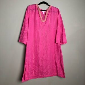 Lilly Pulitzer pink golf metallic coverup / tunic